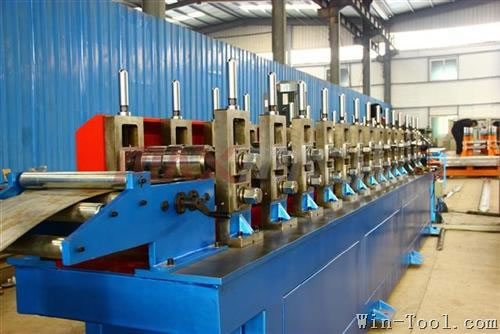 Electrical cabinet post roll forming machine